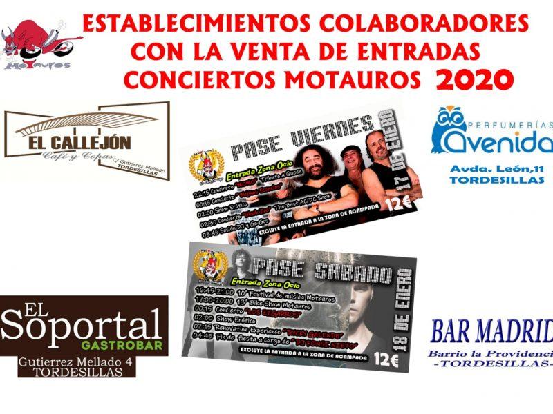 Entradas para conciertos de Motauros 2020